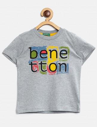 UCB grey printed slim fit t-shirt