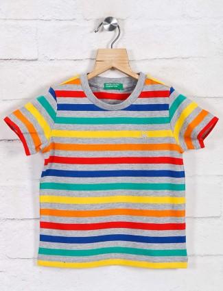 UCB multicolor stripe casual t-shirt