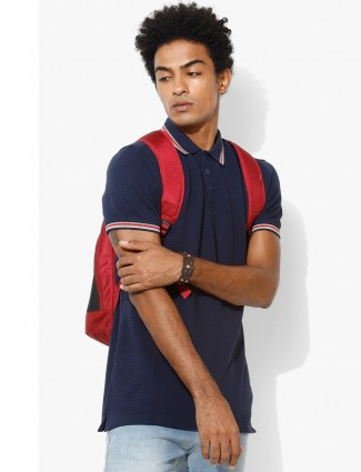 UCB navy plain cotton t-shirt