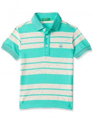 UCB presented green stripe t-shirt