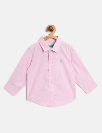 UCB presented pink solid shirt