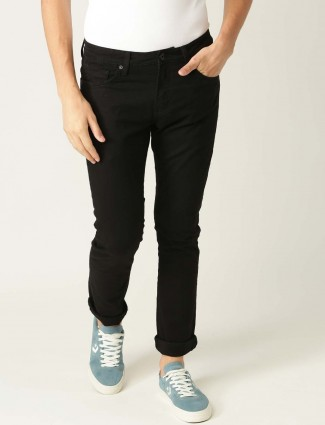 UCB solid black color casual jeans