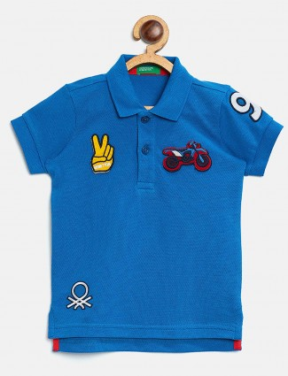 UCB solid royal blue casual t-shirt