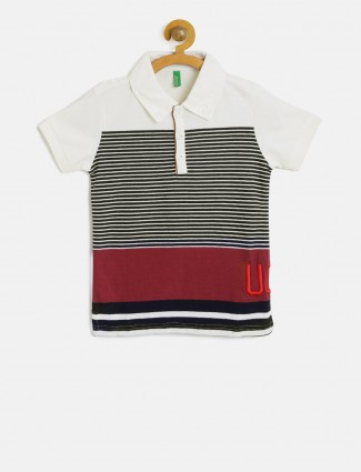 UCB stripe white hue t-shirt