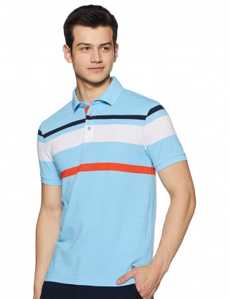 United Colors of Benetton aqua stripe t-shirt