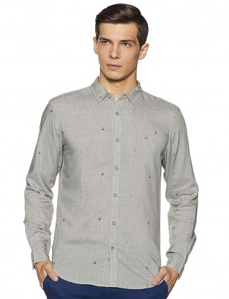 United Colors of Benetton grey printed casual shirt