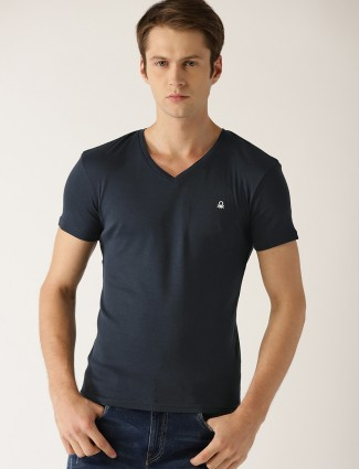 United Colors of Benetton navy plain t-shirt