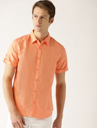 United Colors of Benetton orange color shirt
