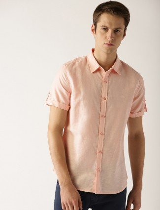 United Colors of Benetton peach cotton shirt