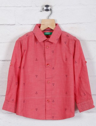 United Colors of Benetton red printed shirt