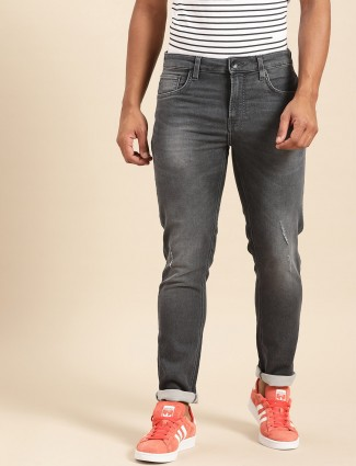 United Colors of Benetton skinny fit washed dark grey jeans