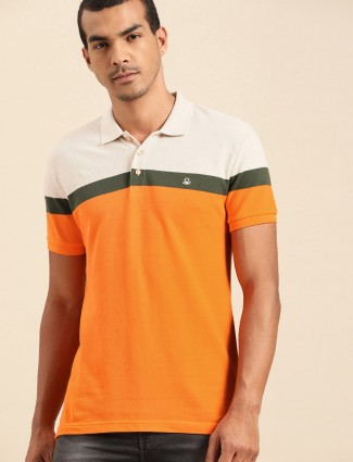 United Colors of Benetton solid orange t-shirt