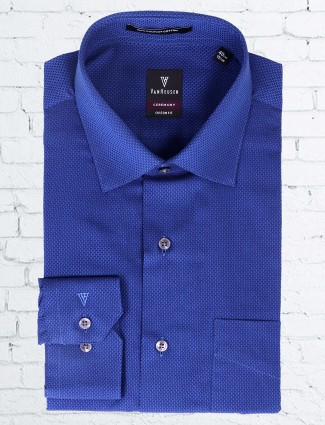 Van Heusen blue simple shirt