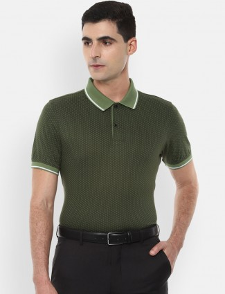 Van Heusen olive printed t-shirt