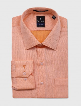 Van Heusen orange formal shirt