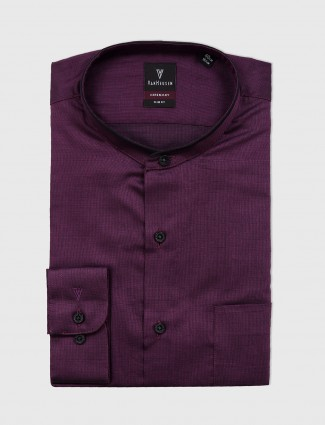 Van Heusen solid purple shirt