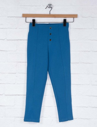 Vitamins blue color casual wear solid jeggings