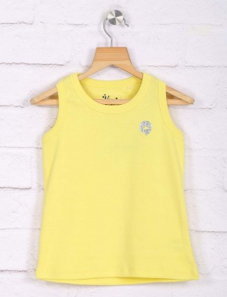 Vitamins yellow cotton top