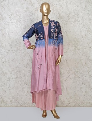Voilet punjabi cotton palazzo suit for festive
