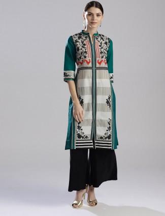 W dark green color printed kurti