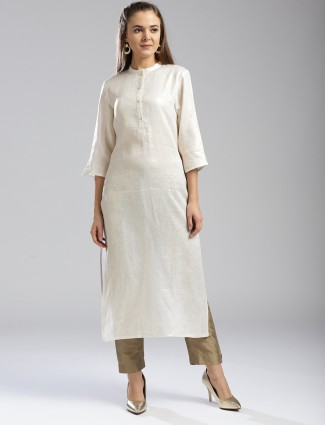 W Linen fabric festive kurti