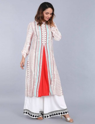 W Off White Casual Wear Kurti