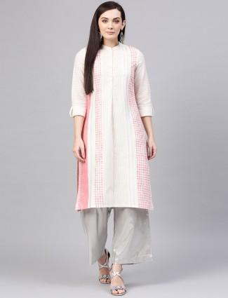W off white casual wear printed kurti