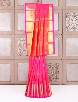 Wedding wear pink attractive saree