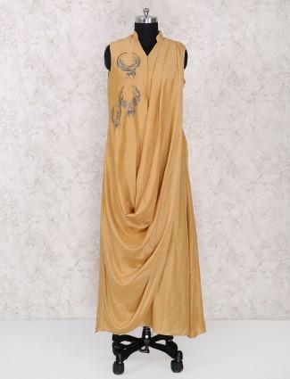 Western look cowl style beige kurti