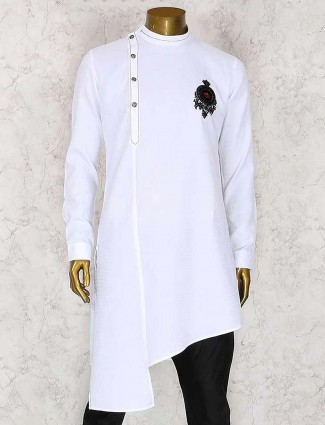 White party wear kurta suit