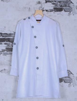 White plain festive wear kurta suit