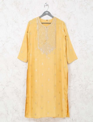 Yellow tunic for women