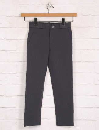 Zillian dark grey cotton trouser for boys