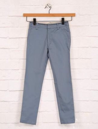 Zillian grey slim fit cotton trouser