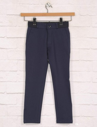 Zillian navy cotton trouser for boys