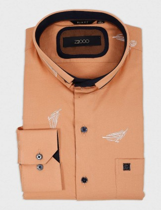Zillian printed peach colored shirt