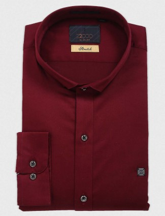 Zillian wine simple cotton shirt