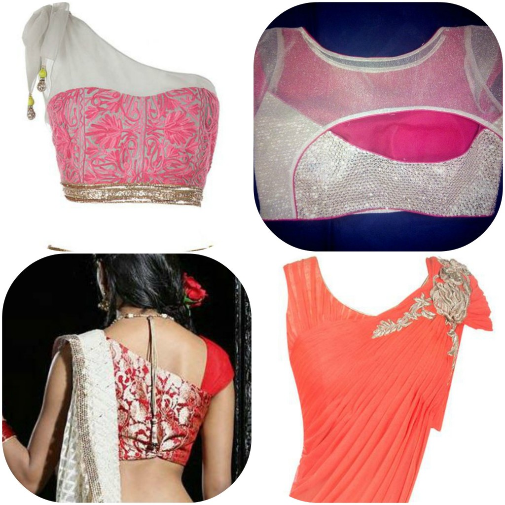 Stand Neck Blouse Designs : Latest blouse necklines designs to wear with your