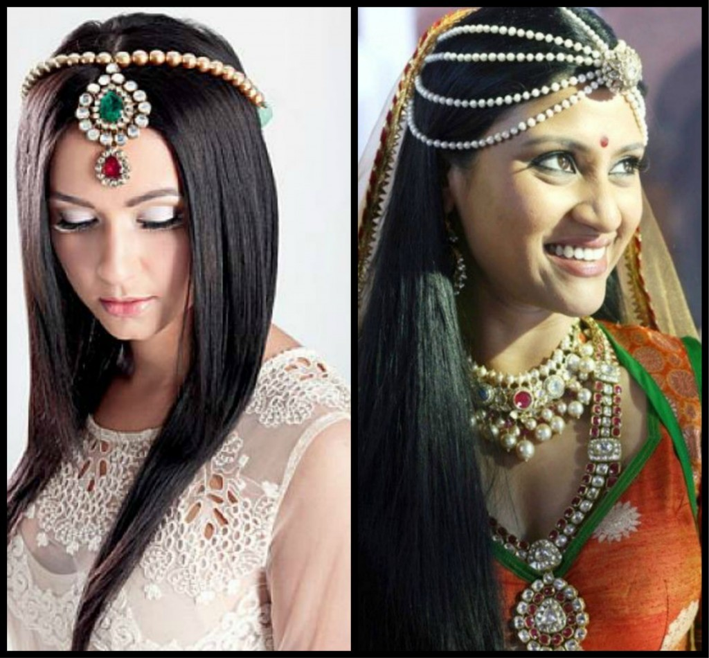 straight hair and hair jewellery, hair ornaments