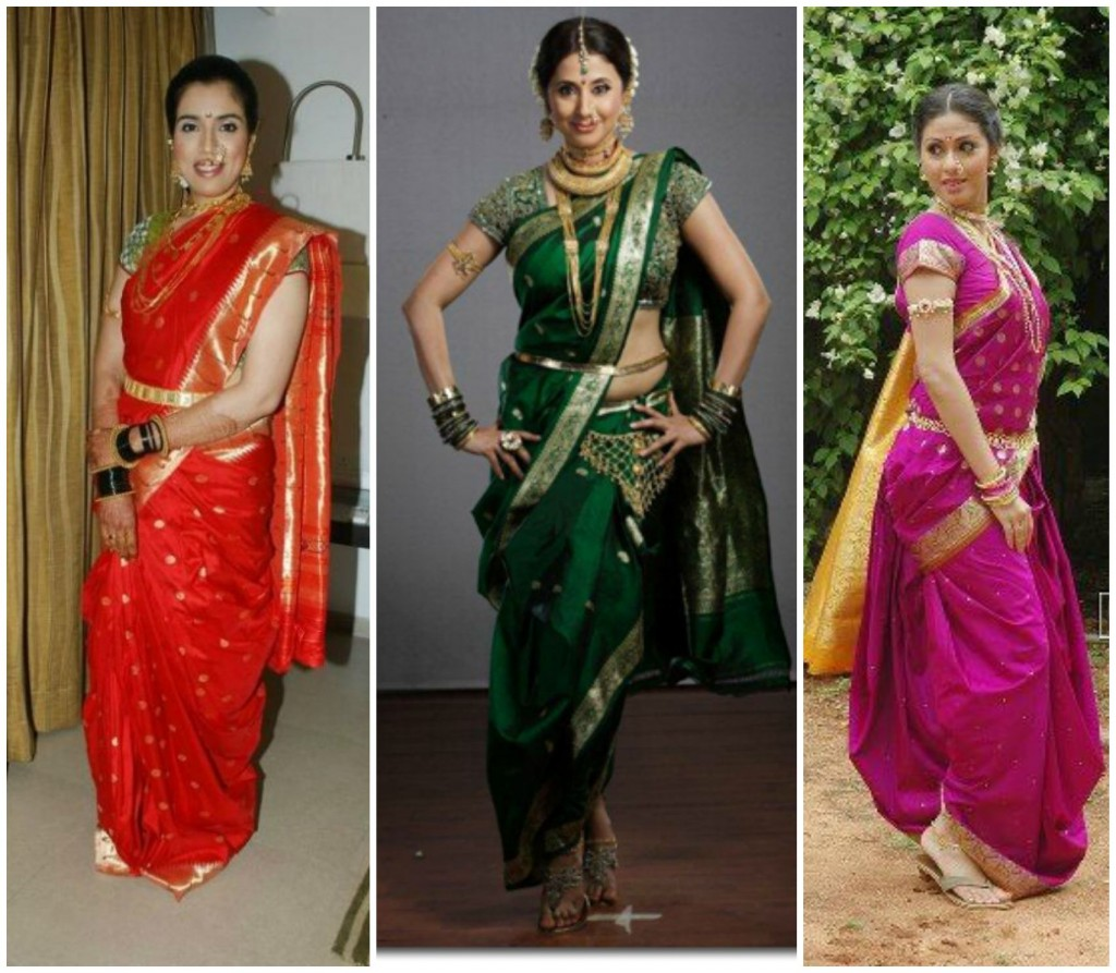 Different hairstyles to try with sarees - How To Drape Marati Style Saree Maharastrian Saree Draping Styles