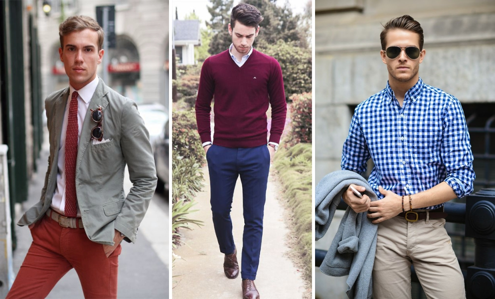 Men 39 s trousers 5 style tips to wear chinos with casual shirts blazers t shirts Fashion style 101 blogspot