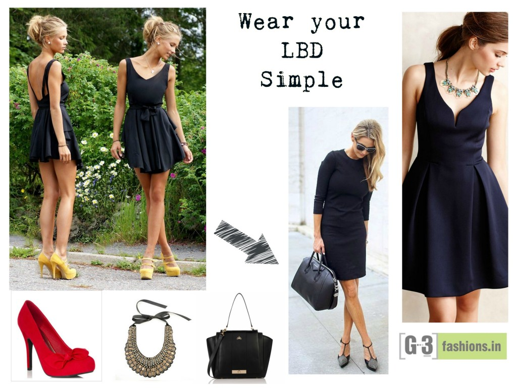 59e1b5b2d9f6 what to wear with Little black dress, Acessories with LBD