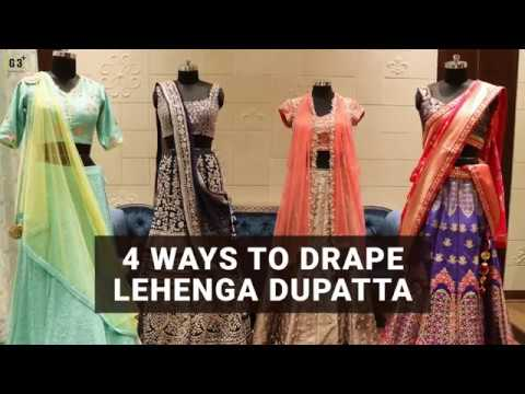 f6c38f9ee 10 New Dupatta Draping Styles for Lehenga choli   Salwar Suits