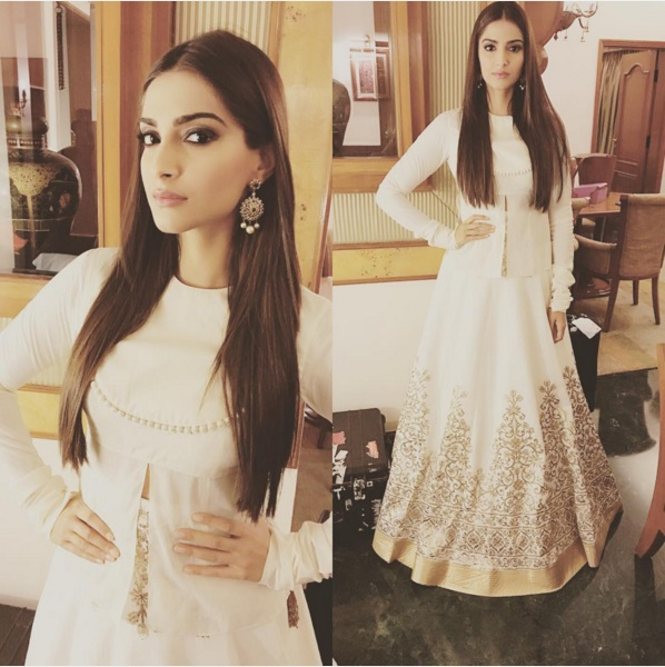 Classy in this white lehenga choli designed in a more modern concept