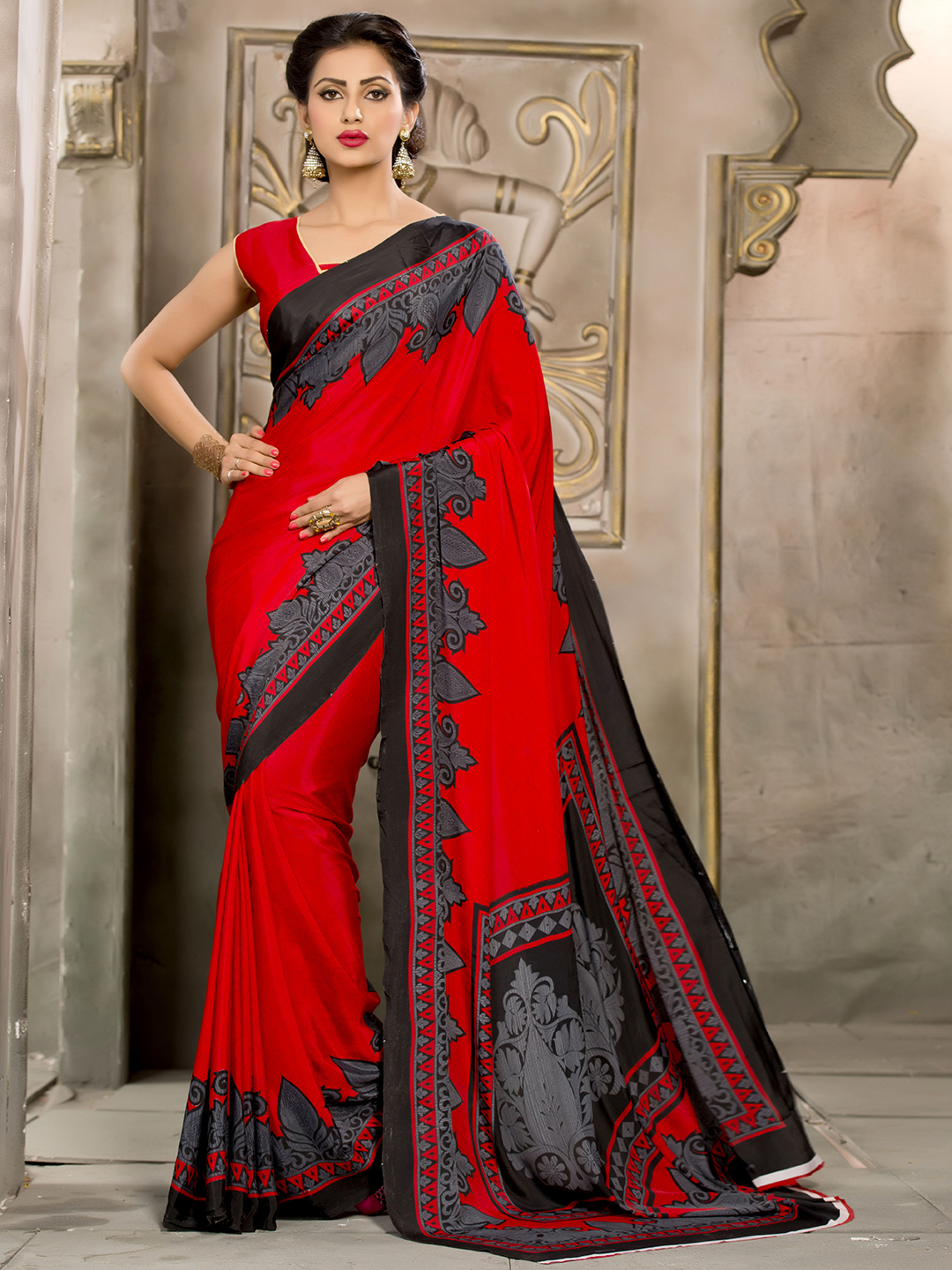 15 Red Color Beautiful Sarees for Wedding & Parties ...