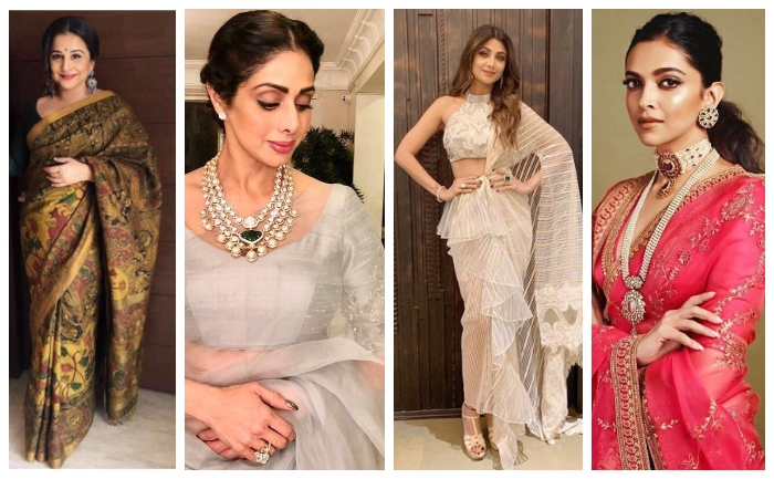 15 Bollywood Actresses In Sarees Whom Love To Wear Sarees G3 Fashion