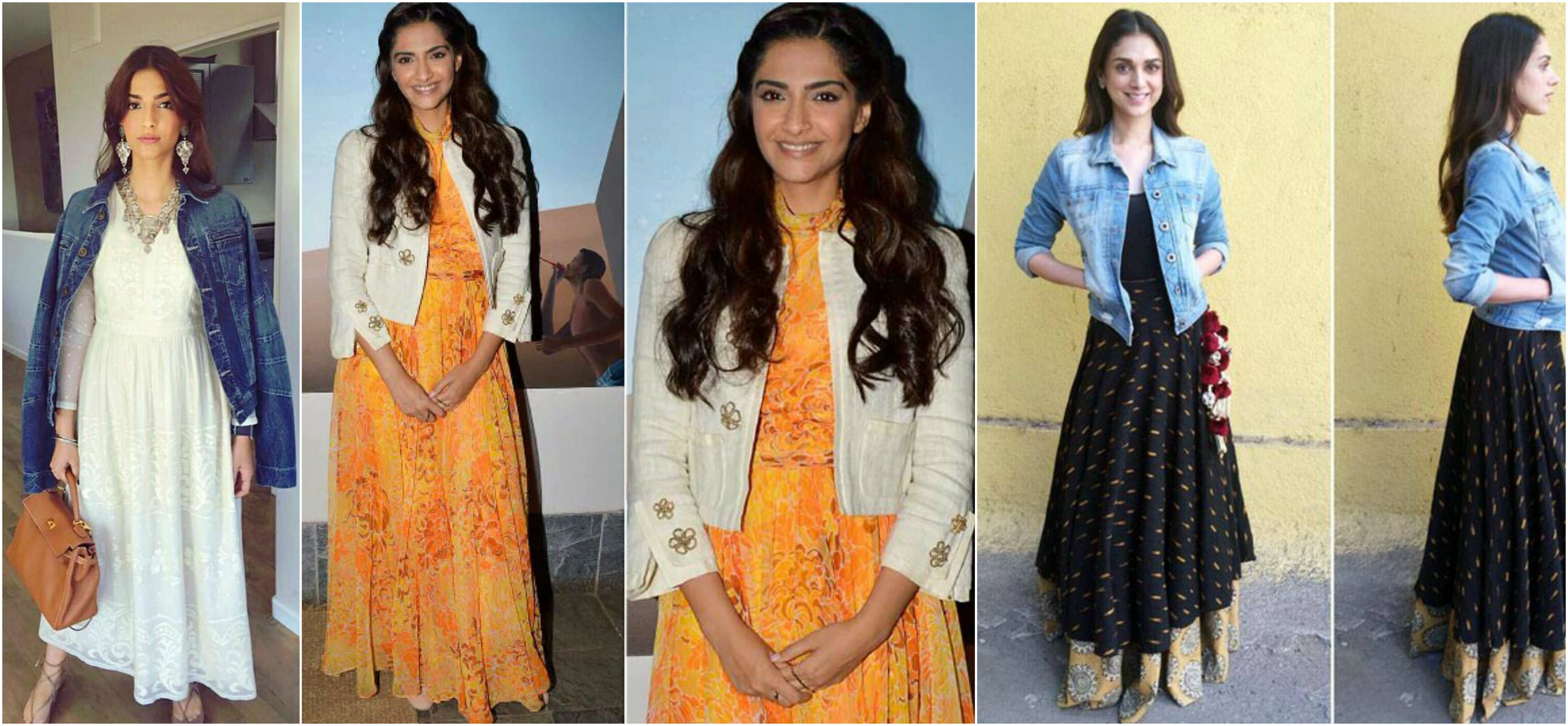 Image result for Blazer, Denim shirt with Tunic or lehenga