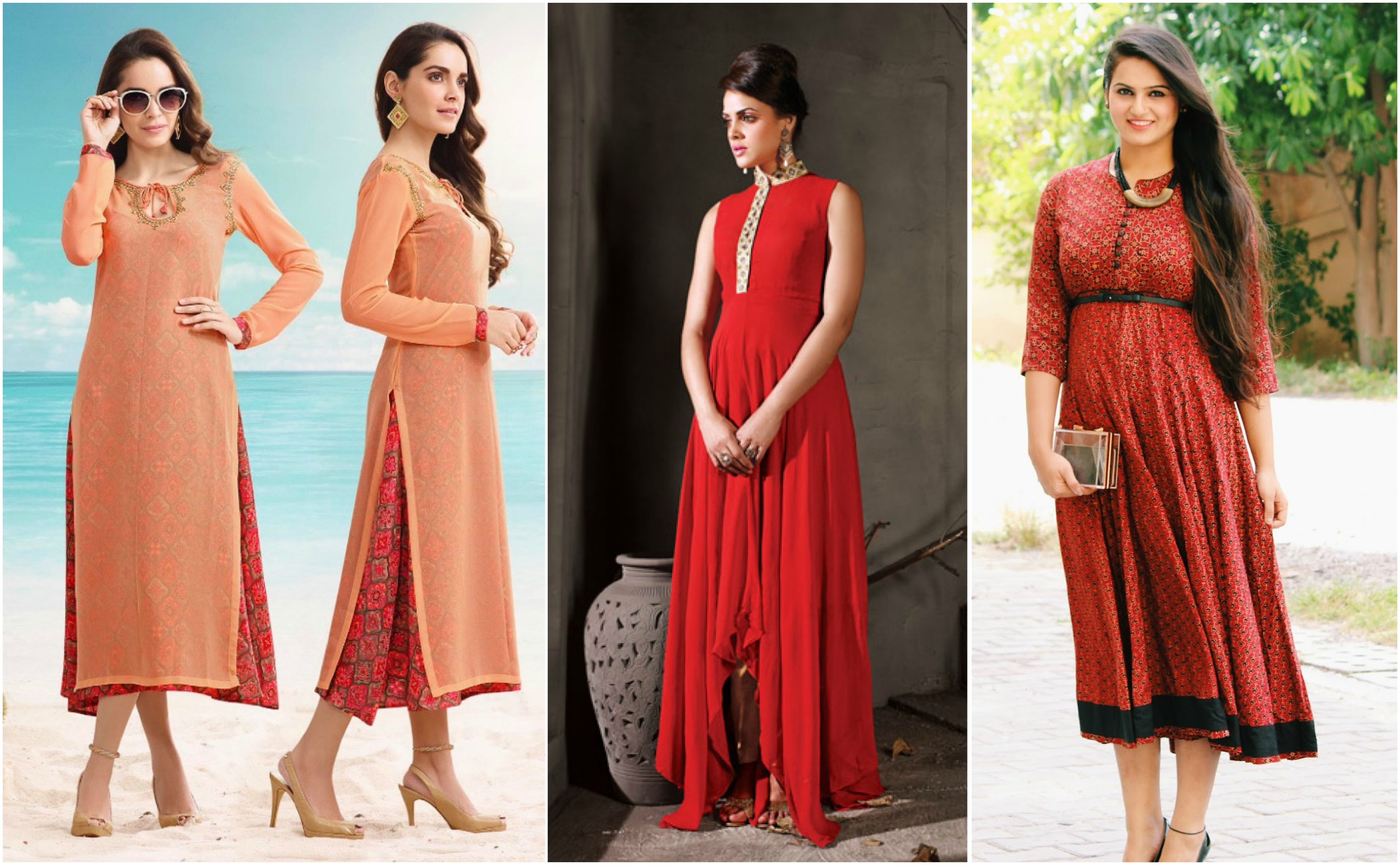 576d46a7fb3 over layer with kurti, how to wear kurti in different styles, kurti and  shirt
