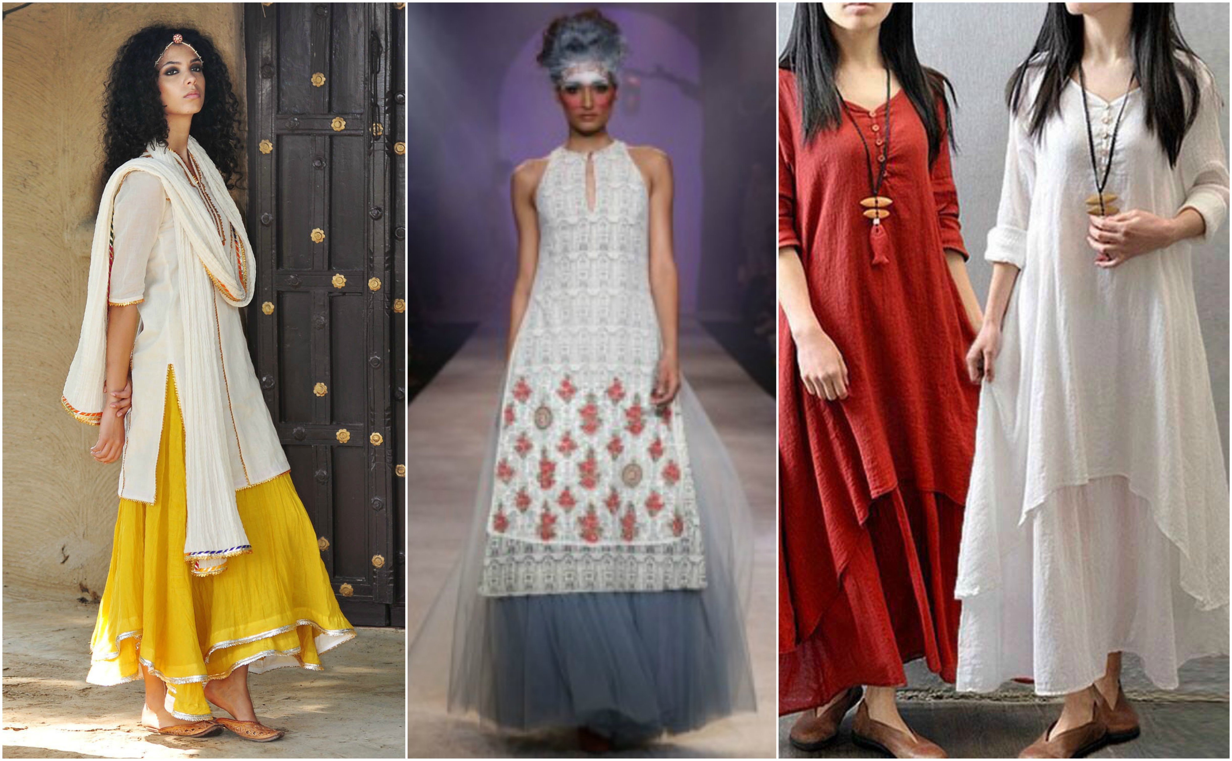 b8ed6ce9851 How to wear a Kurti or Tunic in Different Styles to look Strikingly ...