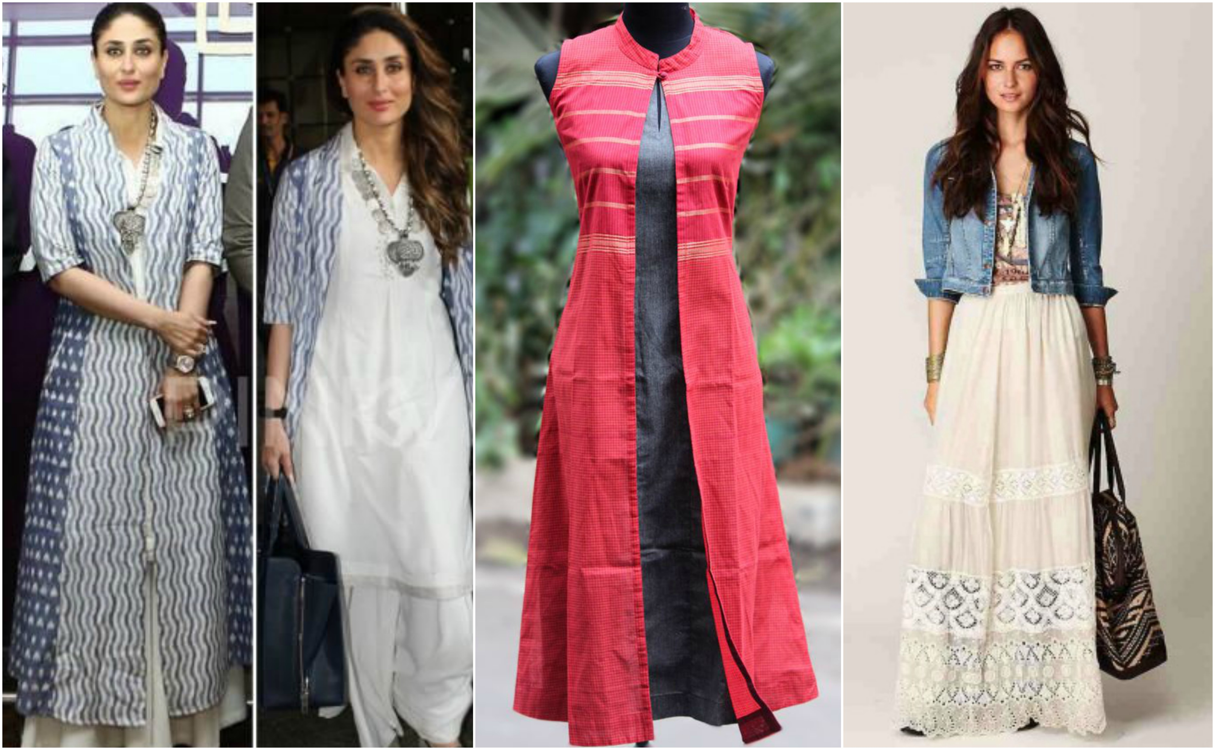 Stand Collar Kurti Designs : How to wear a kurti or tunic in different styles look
